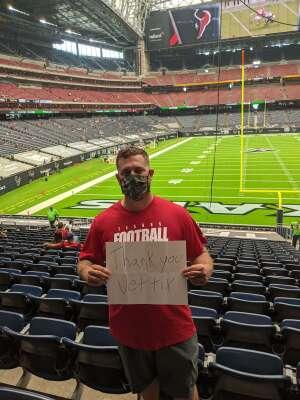 Andrew Quesada attended Houston Texans vs. Jacksonville Jaguars - NFL on Oct 11th 2020 via VetTix