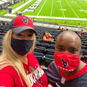 Texans 1 - 0 attended Houston Texans vs. Jacksonville Jaguars - NFL on Oct 11th 2020 via VetTix