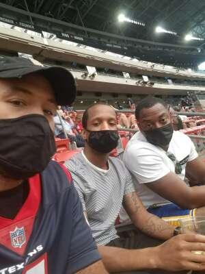 Marcus L attended Houston Texans vs. Jacksonville Jaguars - NFL on Oct 11th 2020 via VetTix