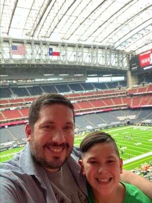 David H.  attended Houston Texans vs. Jacksonville Jaguars - NFL on Oct 11th 2020 via VetTix