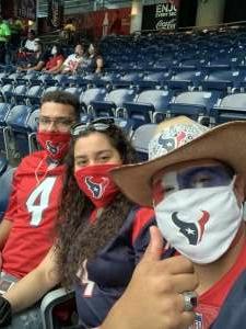 Diaz attended Houston Texans vs. Jacksonville Jaguars - NFL on Oct 11th 2020 via VetTix