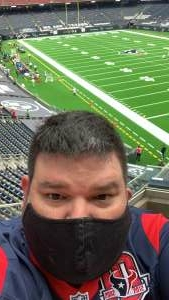 Fritz Cardona attended Houston Texans vs. Jacksonville Jaguars - NFL on Oct 11th 2020 via VetTix