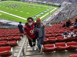 Bokeia Bailey attended Houston Texans vs. Jacksonville Jaguars - NFL on Oct 11th 2020 via VetTix