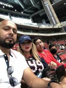 Guzman attended Houston Texans vs. Jacksonville Jaguars - NFL on Oct 11th 2020 via VetTix