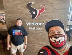 Jesus Perez attended Houston Texans vs. Jacksonville Jaguars - NFL on Oct 11th 2020 via VetTix