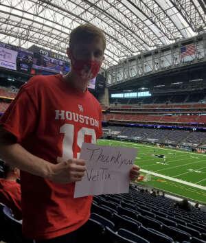 Tom attended Houston Texans vs. Jacksonville Jaguars - NFL on Oct 11th 2020 via VetTix
