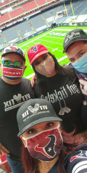 Alhely  attended Houston Texans vs. Jacksonville Jaguars - NFL on Oct 11th 2020 via VetTix