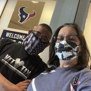 Jose Cumpian attended Houston Texans vs. Jacksonville Jaguars - NFL on Oct 11th 2020 via VetTix