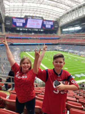 Amberveness attended Houston Texans vs. Jacksonville Jaguars - NFL on Oct 11th 2020 via VetTix