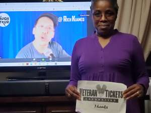 Q. attended The Laugh Tour: VIRTUAL Stand Up Comedy via ZOOM on Oct 17th 2020 via VetTix