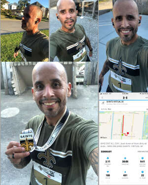 Leonel  attended Saints Virtual 5k - Presented by Community Coffee on Nov 2nd 2020 via VetTix