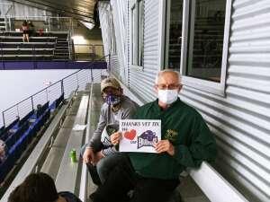 Dennis  attended Lone Star Brahmas vs. Amarillo Bulls - NAHL on Nov 14th 2020 via VetTix