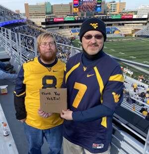Frank  attended West Virginia University Mountaineers vs. TCU on Nov 14th 2020 via VetTix