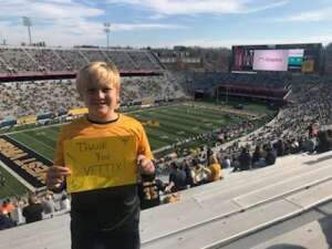 GO MOUNTAINEERS!  THANK YOU VET TIX! attended West Virginia University Mountaineers vs. TCU on Nov 14th 2020 via VetTix