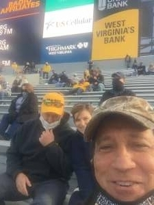 Billy attended West Virginia University Mountaineers vs. TCU on Nov 14th 2020 via VetTix