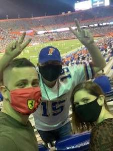 Ryan M attended Florida Gators vs. Arkansas Razorbacks - Salute Those Who Serve Game - NCAA - Football on Nov 14th 2020 via VetTix