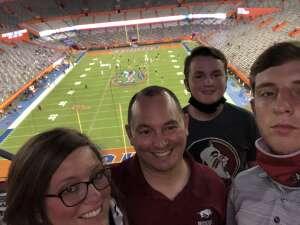Katie Everett attended Florida Gators vs. Arkansas Razorbacks - Salute Those Who Serve Game - NCAA - Football on Nov 14th 2020 via VetTix