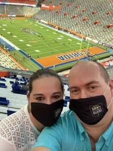 James attended Florida Gators vs. Arkansas Razorbacks - Salute Those Who Serve Game - NCAA - Football on Nov 14th 2020 via VetTix