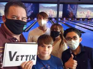 Travis attended Bowling Fatcats on Nov 11th 2020 via VetTix