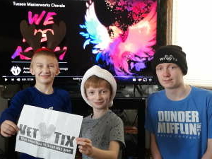 Jonathan attended Tucson Masterworks Chorale virtual concert We Rise Again on Nov 29th 2020 via VetTix
