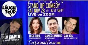 Terri attended The Laugh Tour: VIRTUAL Stand Up Comedy via ZOOM on Nov 28th 2020 via VetTix