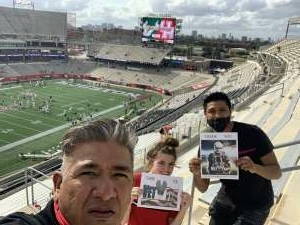 Army Vet J. Mejias attended University of Houston vs. South Florida - NCAA on Nov 14th 2020 via VetTix