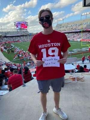 Tom attended University of Houston vs. South Florida - NCAA on Nov 14th 2020 via VetTix