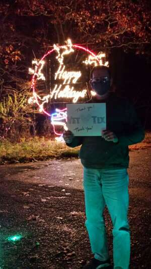 Chinery Family attended Magic of Lights: Drive-through Holiday Lights Experience on Nov 13th 2020 via VetTix