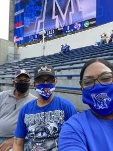 Michael Hale attended University of Memphis vs. Stephen F. Austin State University - NCAA Football on Nov 21st 2020 via VetTix