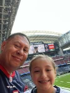 P. Chavez  attended Houston Texans vs. New England Patriots - NFL on Nov 22nd 2020 via VetTix