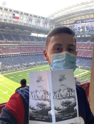 Ken M attended Houston Texans vs. New England Patriots - NFL on Nov 22nd 2020 via VetTix
