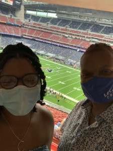 Anita Blue attended Houston Texans vs. New England Patriots - NFL on Nov 22nd 2020 via VetTix