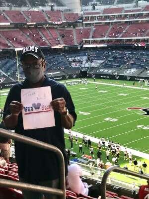 Reginald D. Walker attended Houston Texans vs. New England Patriots - NFL on Nov 22nd 2020 via VetTix