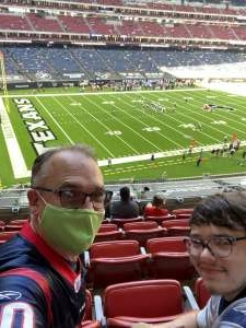 Mark attended Houston Texans vs. New England Patriots - NFL on Nov 22nd 2020 via VetTix