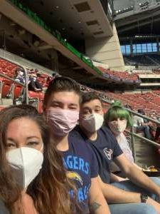 Erica attended Houston Texans vs. New England Patriots - NFL on Nov 22nd 2020 via VetTix