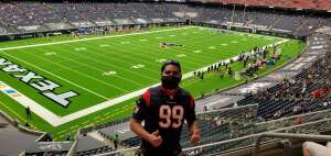 Walter Andino attended Houston Texans vs. New England Patriots - NFL on Nov 22nd 2020 via VetTix