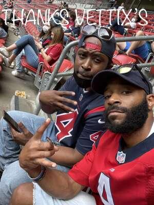Kaydra attended Houston Texans vs. New England Patriots - NFL on Nov 22nd 2020 via VetTix