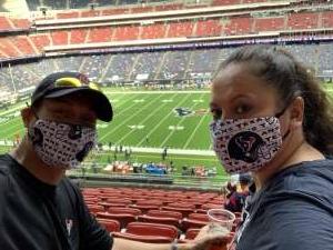 Ben Turner attended Houston Texans vs. New England Patriots - NFL on Nov 22nd 2020 via VetTix