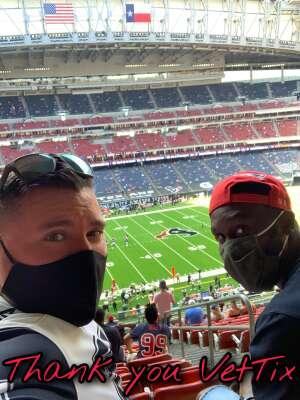 Bryan Ashe attended Houston Texans vs. New England Patriots - NFL on Nov 22nd 2020 via VetTix