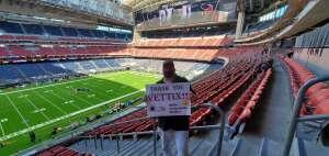 Truett B attended Houston Texans vs. New England Patriots - NFL on Nov 22nd 2020 via VetTix