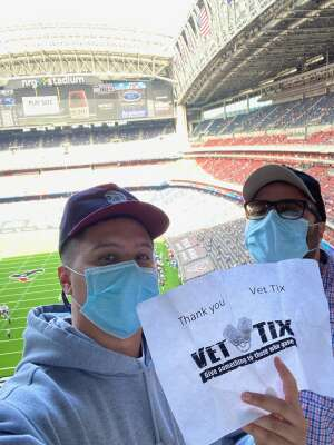 MARGARETHA attended Houston Texans vs. New England Patriots - NFL on Nov 22nd 2020 via VetTix
