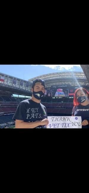 Joanna attended Houston Texans vs. New England Patriots - NFL on Nov 22nd 2020 via VetTix
