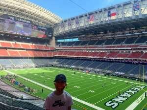 Texans Game attended Houston Texans vs. New England Patriots - NFL on Nov 22nd 2020 via VetTix