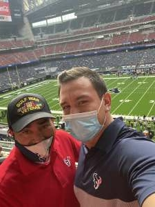 Eloy attended Houston Texans vs. New England Patriots - NFL on Nov 22nd 2020 via VetTix
