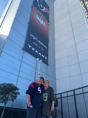 GAB attended Houston Texans vs. New England Patriots - NFL on Nov 22nd 2020 via VetTix
