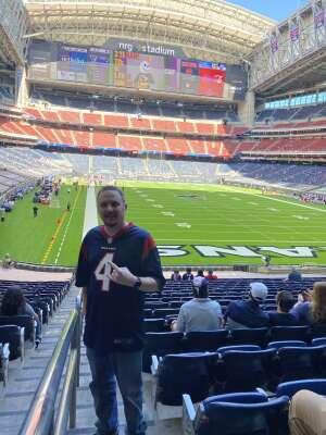 James  attended Houston Texans vs. New England Patriots - NFL on Nov 22nd 2020 via VetTix
