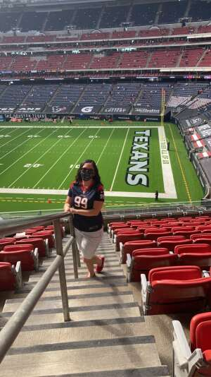 Janette attended Houston Texans vs. New England Patriots - NFL on Nov 22nd 2020 via VetTix