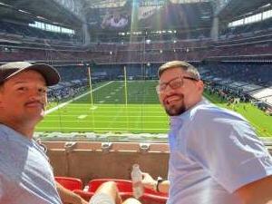 Gabriel  attended Houston Texans vs. New England Patriots - NFL on Nov 22nd 2020 via VetTix