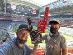 Air Force Dad attended Houston Texans vs. New England Patriots - NFL on Nov 22nd 2020 via VetTix