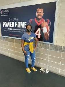 Margaret  attended Houston Texans vs. New England Patriots - NFL on Nov 22nd 2020 via VetTix